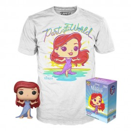 La Petite Sirène POP! & Tee set figurine et T-Shirt Ariel MULTIVERSE GEEK Exclusive