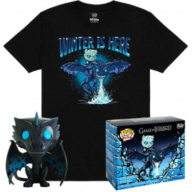 Game of Thrones POP! & Tee set figurine et T-Shirt Icy Viserion MULTIVERSE GEEK Exclusive