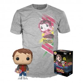 Retour vers le Futur POP! & Tee set figurine et T-Shirt Marty MULTIVERSE GEEK Exclusive