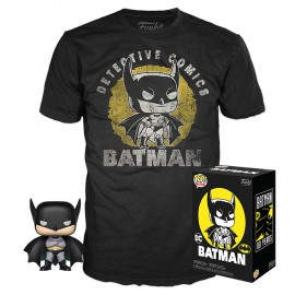 DC Comics POP! & Tee set figurine et T-Shirt Batman Sun Faded MULTIVERSE GEEK Exclusive