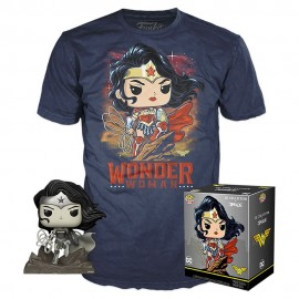 DC Jim Lee POP! & Tee set figurine et T-Shirt Wonder Woman MULTIVERSE GEEK Exclusive